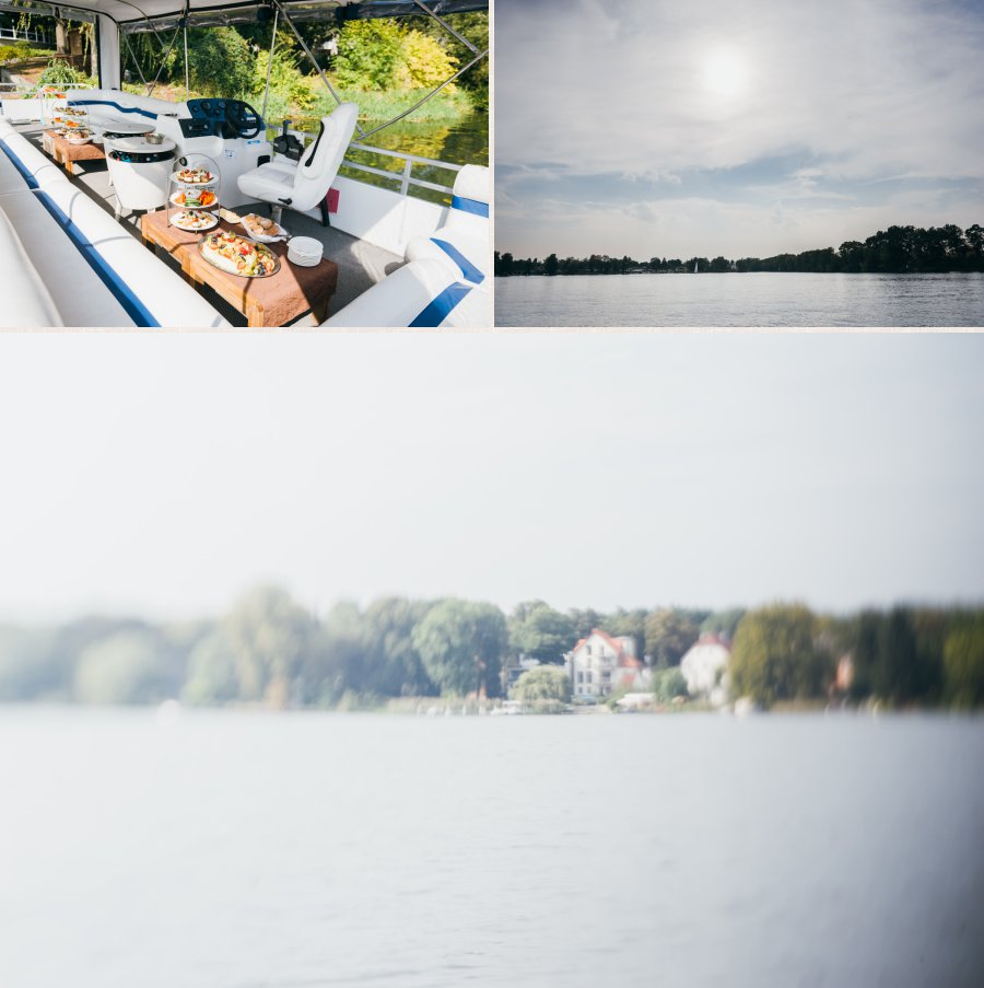 Aufnahme des Bootes und der Landschaft während der Bootstour.
