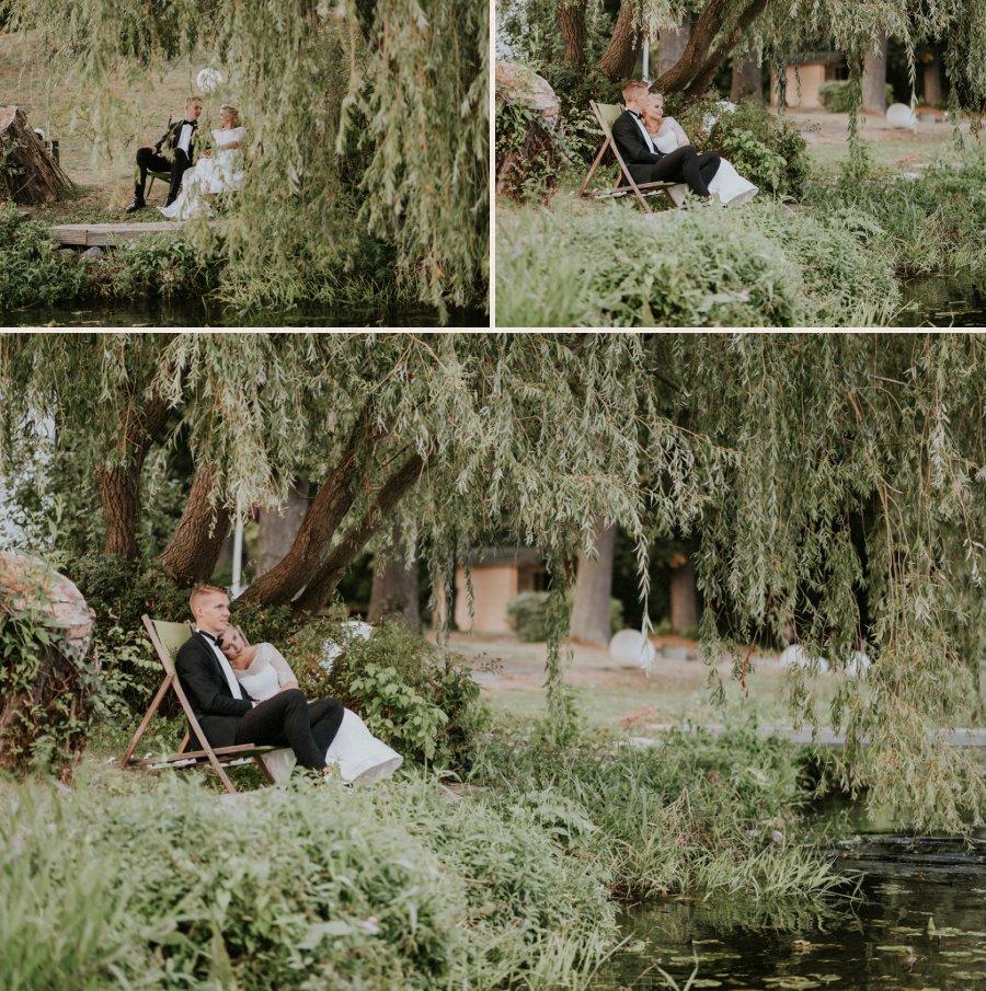 Relaxen in den Liegestühlen am Dameritzsee.